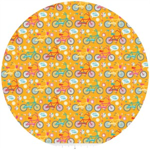 Dani for Riley Blake, Girl Crazy, Bikes Orange