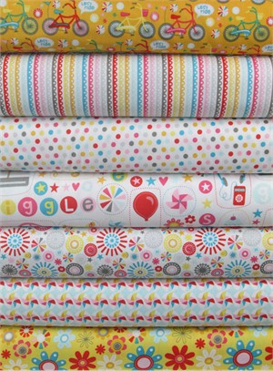 Dani for Riley Blake, Girl Crazy, Cream in FAT QUARTERS 7 Total
