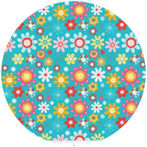 Dani for Riley Blake, Girl Crazy, Floral Blue