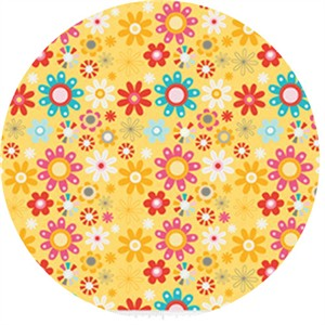 Dani for Riley Blake, Girl Crazy, Floral Yellow