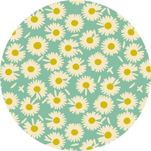 Elizabeth Grubaugh for Blend, Garden Roost, Daisy Turquoise