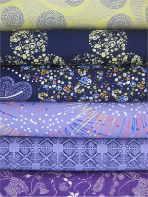Dan Bennett, Ruby, Sapphire Stone in FAT QUARTERS, 5 Total (Last Bundle)