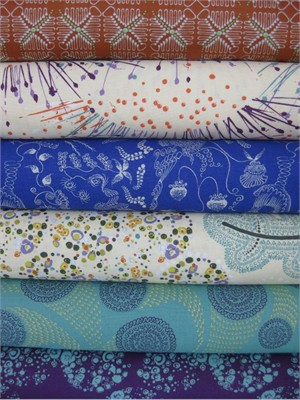 Dan Bennett, Ruby, Natural in FAT QUARTERS, 6 Total