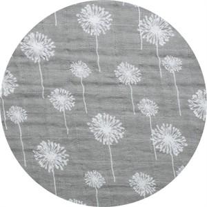 Shannon Fabrics, Embrace, DOUBLE GAUZE, Dandelion Steel