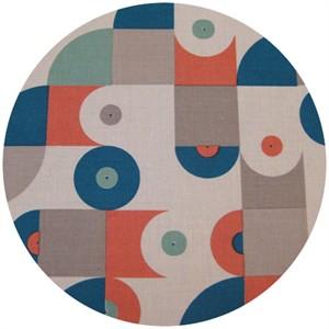 Dan Stiles for Birch Fabrics Organic, Mod Squad, Vinyl Coral