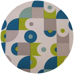 Dan Stiles for Birch Fabrics Organic, Mod Squad, Vinyl Grass