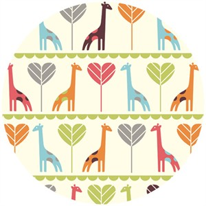 Dan Stiles for Birch Fabrics Organic, Safari Soiree, Giraffe Love