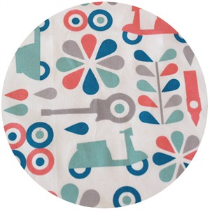 Dan Stiles for Birch Fabrics Organic, Mod Squad, Coral