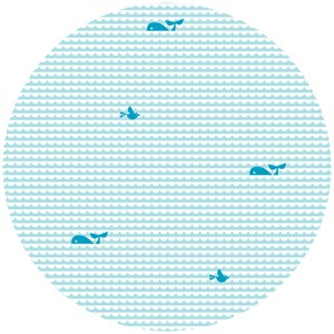Dan Stiles for Birch Fabrics Organic, KNIT, Marine Too, Waves and Whales