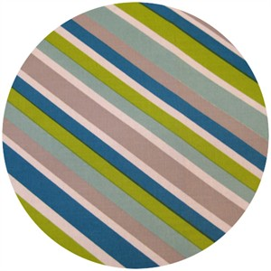 Dan Stiles for Birch Fabrics Organic, Mod Squad, Mod Stripe Grass