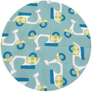 Dan Stiles for Birch Fabrics Organic, Mod Squad, Rally Pool/Grass
