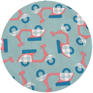 Dan Stiles for Birch Fabrics Organic, Mod Squad, Rally Pool/Coral