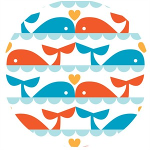 Dan Stiles for Birch Organic Fabrics, Marine Too, Whale Love