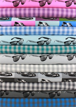 Moda, Dapper Wovens and Prints in FAT QUARTERS 12 Total