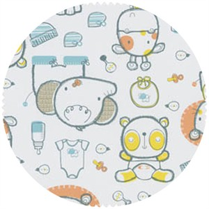 David Textiles, FLANNEL, Bundle of Joy Blue