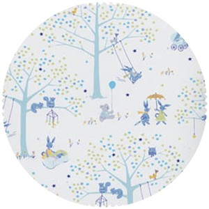 David Textiles, FLANNEL, Meadow Playtime Blue