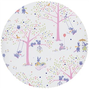 David Textiles, FLANNEL, Meadow Playtime Pink