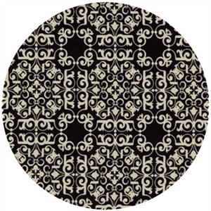 David Textiles, Ladies & Gentlemen, Ornate Black