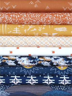 Fabricworm Custom Bundle, Day and Night in FAT QUARTERS 8 Total (PRE-CUT)