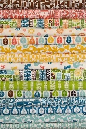 Dennis Bennett Birch Organic Fabrics, Ipanema, Entire Collection in FAT QUARTERS 14 Total