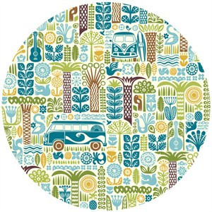 Dennis Bennett for Birch Organic Fabrics, Ipanema, Main Blue