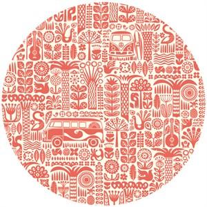 Dennis Bennett for Birch Organic Fabrics, Ipanema, Main Coral