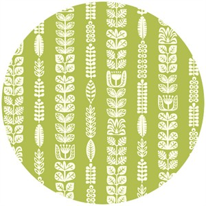 Dennis Bennett for Birch Organic Fabrics, Ipanema, Flora Stripe Grass
