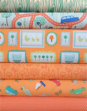 Deena Rutter, Scenic Route, Orange in FAT QUARTERS 6 Total