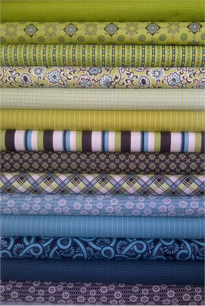 Denyse Schmidt, Ansonia, Mossy in FAT QUARTERS 14 Total