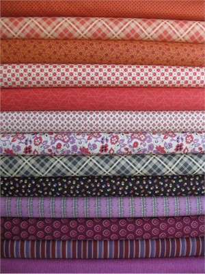 Denyse Schimdt, Chicopee, Push Pop in FAT QUARTERS, 13 Total