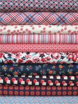 Denyse Schmidt, Shelburne Falls, Maple in FAT QUARTERS, 10 Total