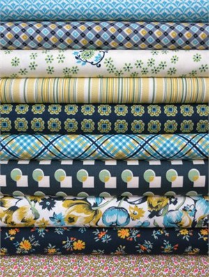 Denyse Schmidt, Shelburne Falls, Willow in FAT QUARTERS, 10 Total
