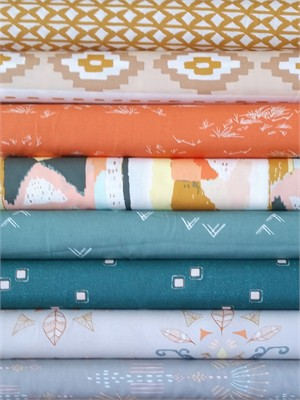 Fabricworm Custom Bundle, Desert Days in FAT QUARTERS 8 Total (PRE-CUT)