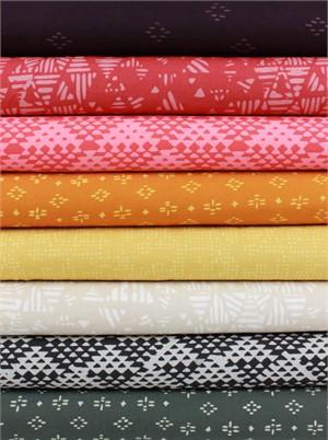 Hoffman Fabrics, Indah BATIKS, Desert Sunset in FAT QUARTERS 8 Total