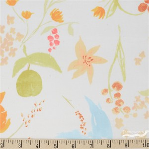 Nani Iro, Meadow DOUBLE GAUZE, Birds and Blooms Cream
