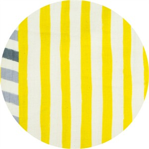 Echino, Linear DOUBLE GAUZE, Line Yellow