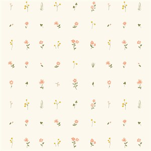 AVAILABLE FOR PREORDER, Jenny Lumelsky for Birch Organic Fabrics, Little, DOUBLE GAUZE, Morning Bloom