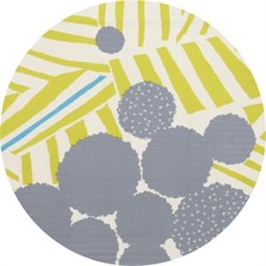 Echino, Linear DOUBLE GAUZE, Ray Yellow Border Print