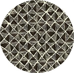 Quilting Treasures, Maya, Diamond Geometric Black