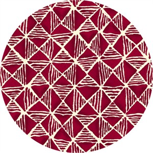 Quilting Treasures, Maya, Diamond Geometric Garnet