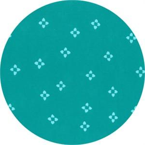 Hoffman Fabrics, Indah BATIKS, Ditsy Floral Aquamarine