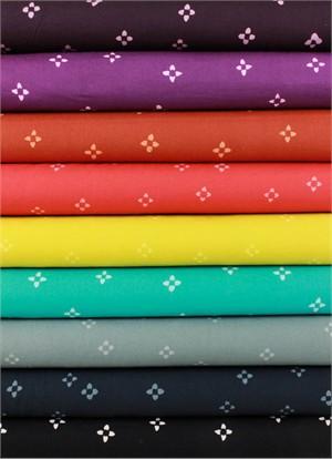 Hoffman Fabrics, Indah BATIKS, Ditsy Floral in FAT QUARTERS 9 Total