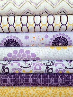 Doohickey Designs, Ashbury Heights, Purple in FAT QUARTERS 6 Total