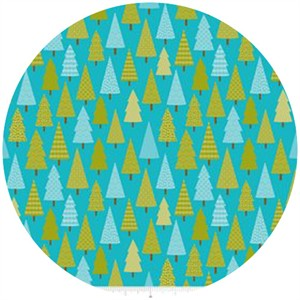 Doodlebug Designs, Happy Camper, Trees Blue
