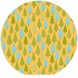 Doodlebug Designs, Happy Camper, Trees Yellow