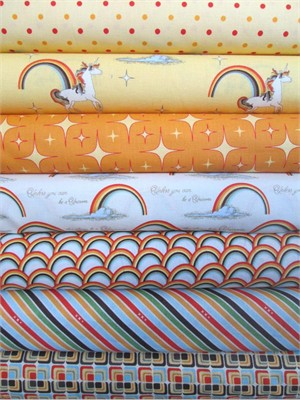 Doohikey Desings, Unicorns & Rainbows, Orange 7 Total