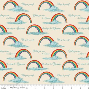 Doohikey Designs, Unicorns & Rainbows, Poster Cream
