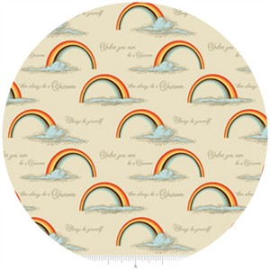 Doohikey Designs, Unicorns & Rainbows, Poster Orange