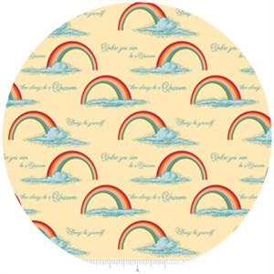 Doohikey Designs, Unicorns & Rainbows, Poster Yellow