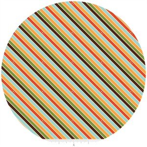 Doohikey Designs, Unicorns & Rainbows, Stripe Orange
